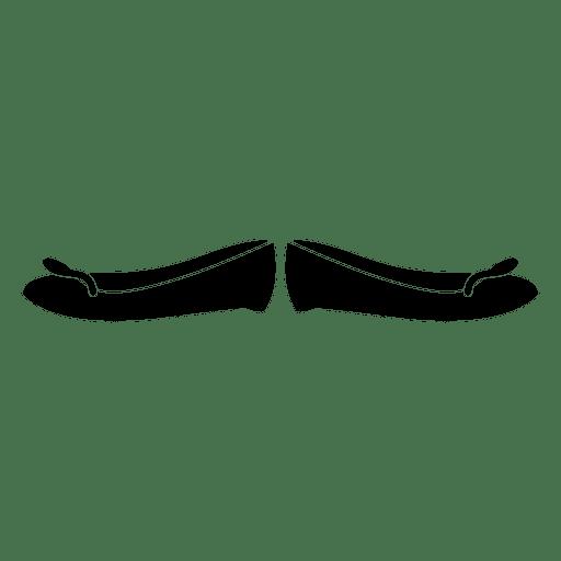 Zapato de niña negra Transparent PNG