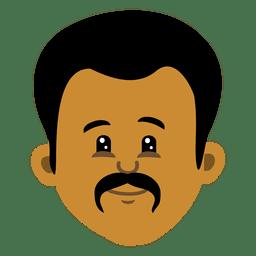 Black man cartoon head