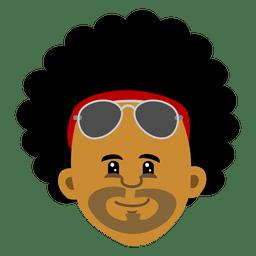 Black man head cartoon