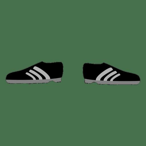 black sport shoe cartoon transparent png svg vector
