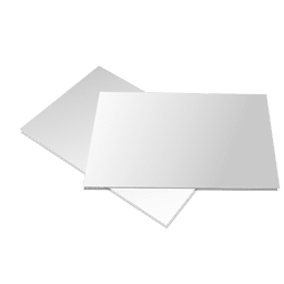 Presentación de folleto en blanco