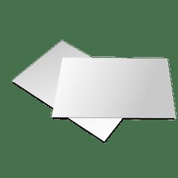 Presentación folleto en blanco
