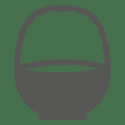 Icono de canasta de pascua en blanco