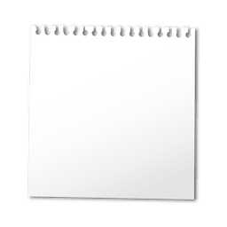 Folha de caderno em branco
