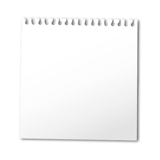 Hoja de cuaderno en blanco Transparent PNG