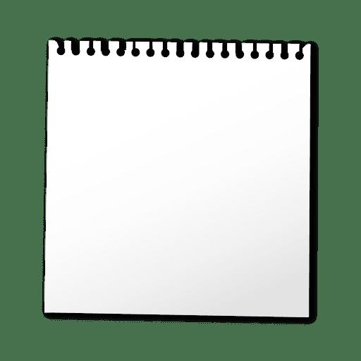 Hoja de cuaderno en blanco