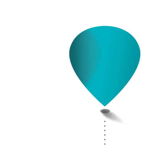 Blue balloon glossy infographic Transparent PNG