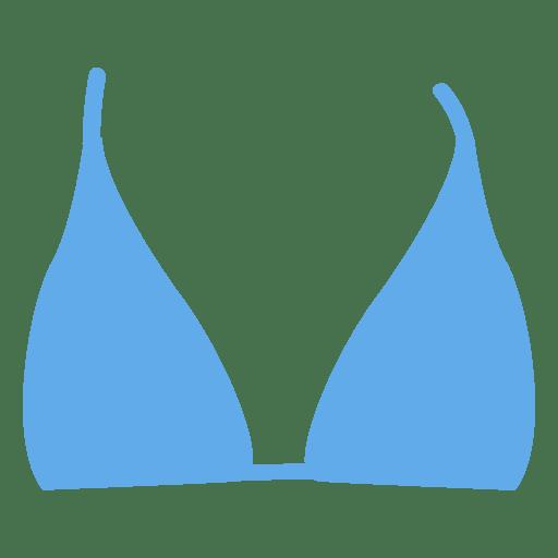 Top de biquíni azul Transparent PNG