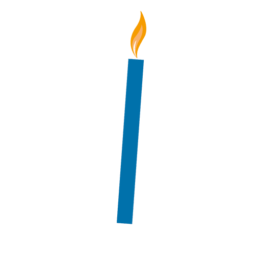 Blue birthday candle - Transparent PNG & SVG vector
