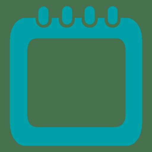 blue calendar square infographic transparent png