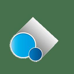 Forma de circulo azul
