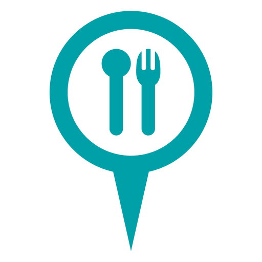 Blue cutlery round bubble