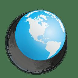 esfera terrestre Azul