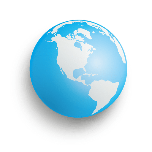 Blue earth sphere - Transparent PNG & SVG vector