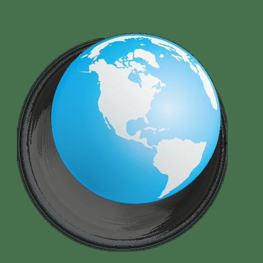 Blue earth sphere