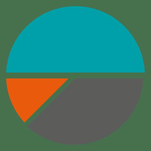 Piechart laranja cinza azul Transparent PNG