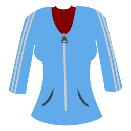 Camisola das senhoras azuis