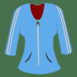 senhoras camisola azul