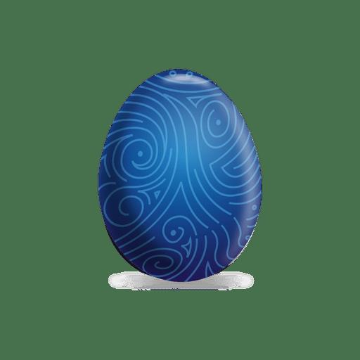 Huevo de pascua de l?neas azules