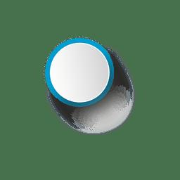Elipse blanca con borde azul