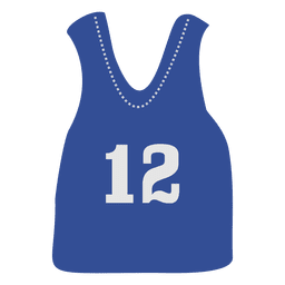 Blue sleeveless jersey
