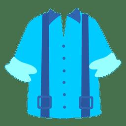Camisa azul dos homens do suspender