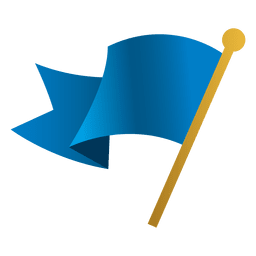 agitando bandera azul