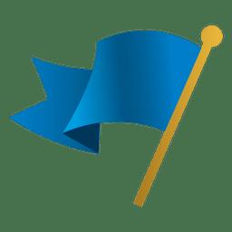 Blue waving flag