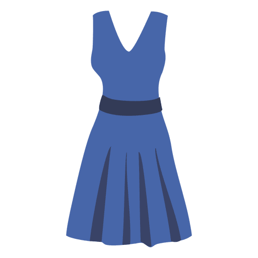 Blue women's cloth Transparent PNG