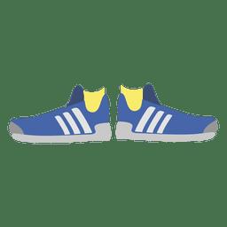 zapatillas de deporte de las mujeres azules