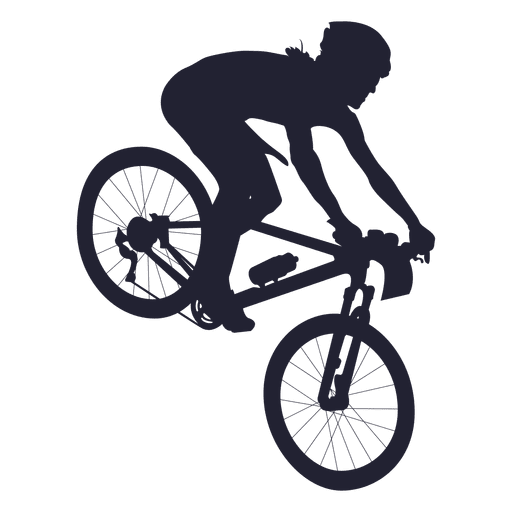 Bmx bicycle sport silhouette Transparent PNG