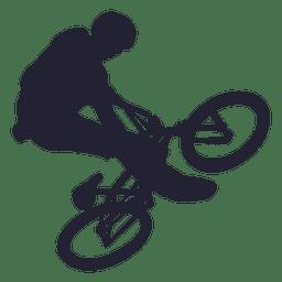 Bmx bicicleta stunt silhueta