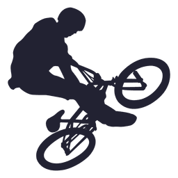 Bmx bicycle stunt silhouette
