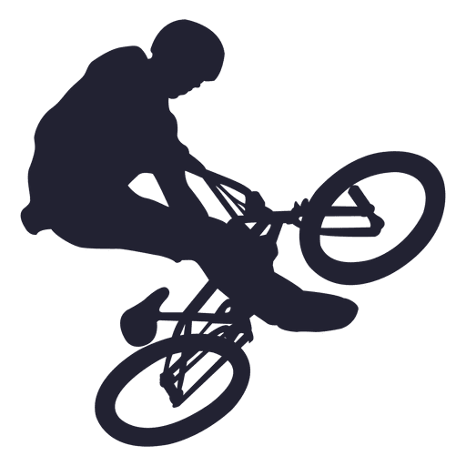Bmx Bicycle Stunt Silhouette Transparent Png Amp Svg Vector
