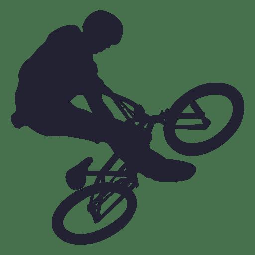Silueta de truco de bicicleta bmx