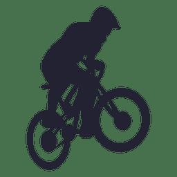 Bicicleta deportiva bmx silueta