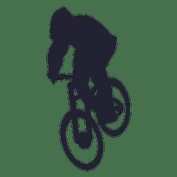 Silhueta de esporte de moto Bmx 1