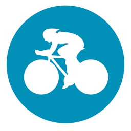 Bmx ícone de círculo de corrida