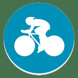 Bmx racing circle icon