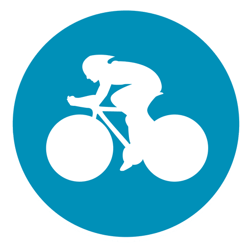 Bmx ícone de círculo de corrida Transparent PNG