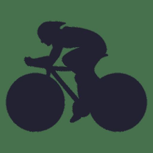 Silhueta de corrida de BMX Transparent PNG