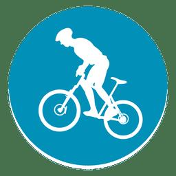 Bmx ícone de círculo de esporte