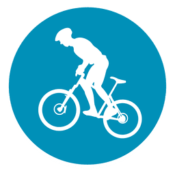 Bmx sport circle icon
