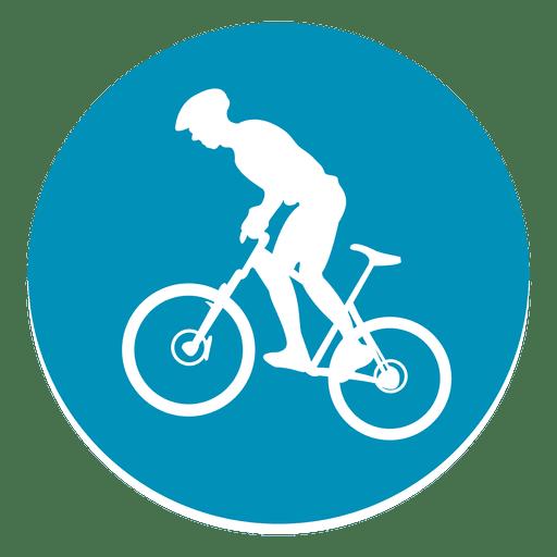 Bmx sport circle icon Transparent PNG