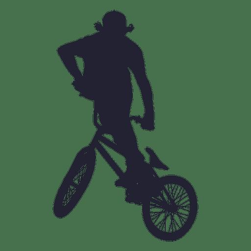 Bmx sport silhouette