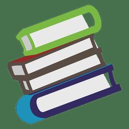 Ícone lateral de livros