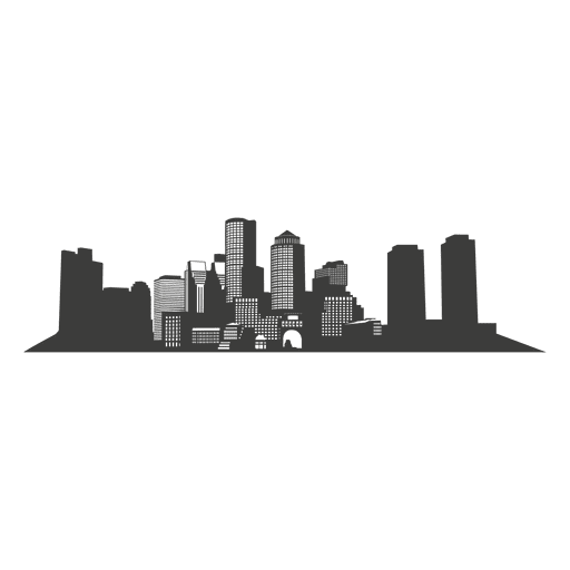 Boston skyline silhouette Transparent PNG