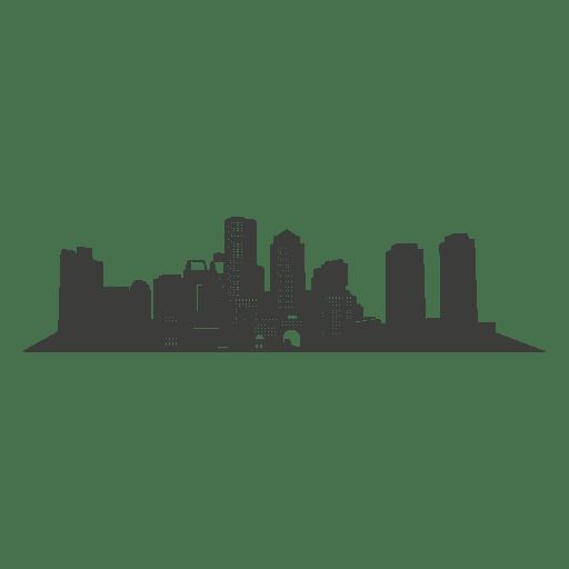 Silhueta de horizonte de Boston Transparent PNG