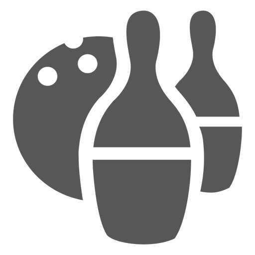 Bowling balls set icon silhouette Transparent PNG