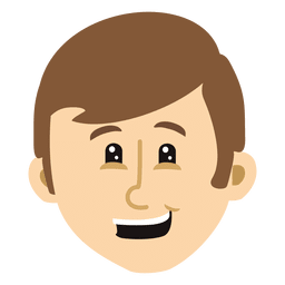Boy cartoon head 8